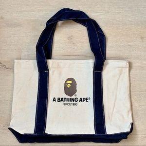 A bathing Ape bape totes shoulder bag canvas